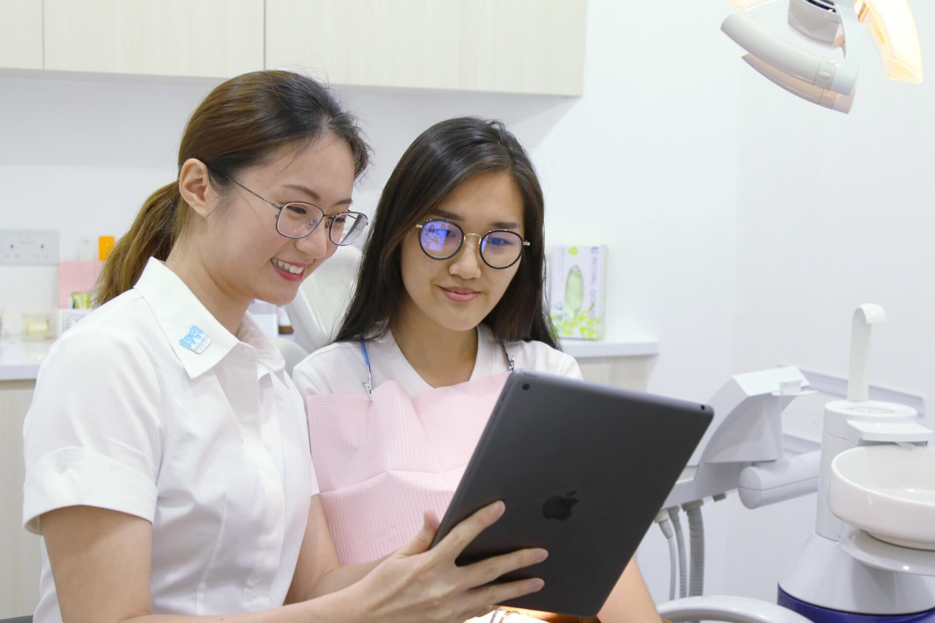 Dental check up with Dr Li Kexin