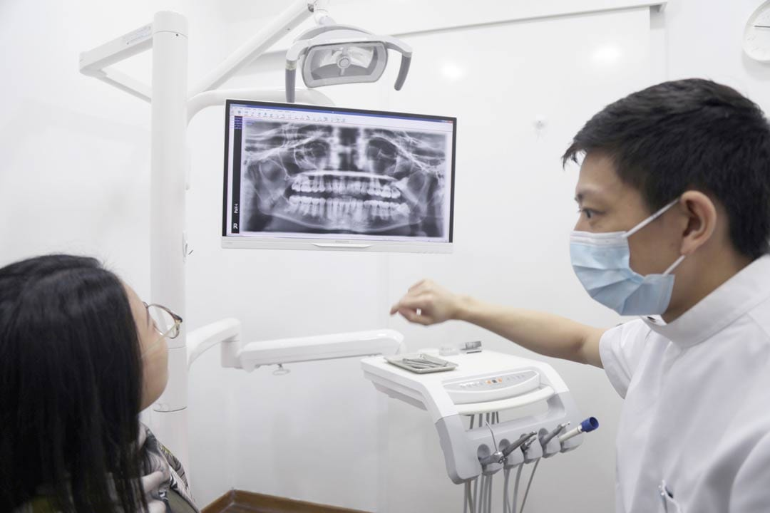 dental xrays on a patient